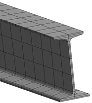 Finite element model of the section steel
