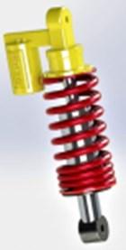 Coilover shock absorber design