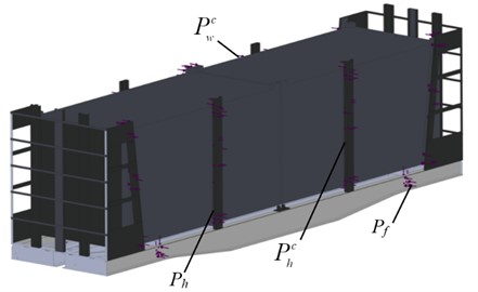 The design scheme of the carrying structure of a wagon loaded with containers