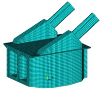 Structure drawing of finite element model
