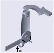 Exoskeleton: a) exoskeleton movement  and b) external disturbance