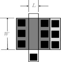 General MOS transistor layout