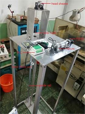 Test model of hoisting system