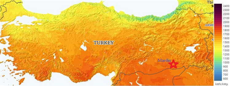 Turkey solar energy potential atlas [15]