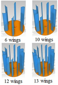 Design of Savonius and Darrieus turbine types with various blade numbers