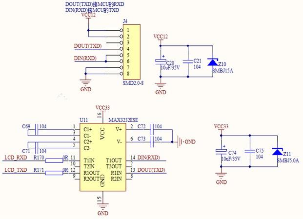 Resistive display circuit