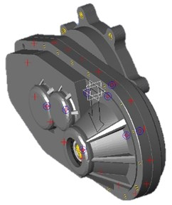 3D model of the reducer housing