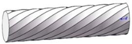 The model of polygonal spiral curved pipe