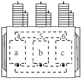 Schematic diagram of measuring points for the vibration test