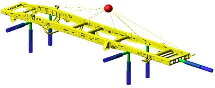 The frame multi-body model