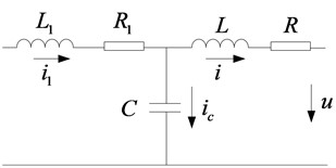 Equivalent circuit of single-phase LCL filter