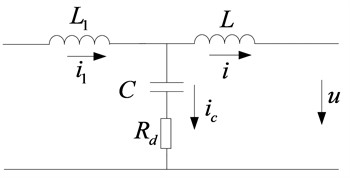 Equivalent circuit with passive damping
