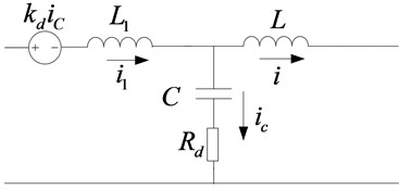 Passive damping diagram of the equivalent voltage source