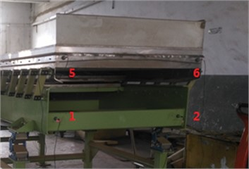 Horizontal and vertical measuring point layout of double-layer vibrating screen