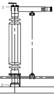 Part of isolating switch and measuring points