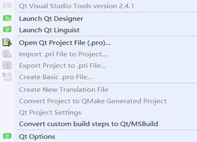 Use of QT in visual studio