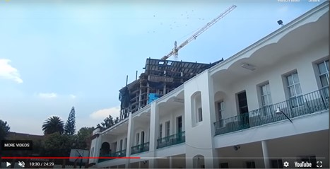 Snapshot of the motion of the tower crane during the Mexico M7.1  earthquake on September 19, 2017 [22]