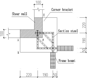 Test model of SRC cantilever /cm