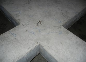Cracks generated by cyclic loading (bird view)