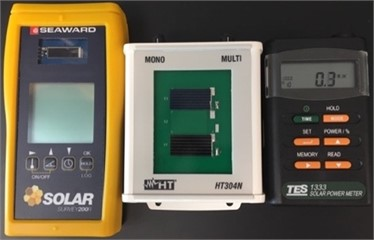 Solar irradiance measurement devices: a) pyranometers and b) silicon devices