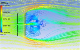 Wind flow streamline in different azimuth angles