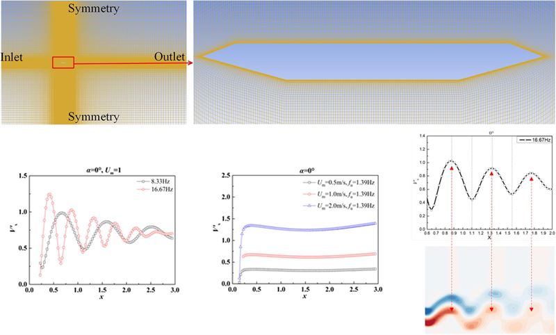 Investigation on the wake of a single-box girder in sinusoidal oscillating flow
