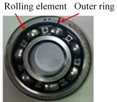 a) Aero-engine rotor-rolling bearing experimental rig, b)-c) compound faults of rolling bearing