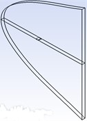 Geometric model, calculational domain and grids of the wing and aileron