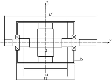 Mechanical model of torsional vibration