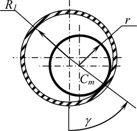 Design model of the rotor system; a) general view; b) torus cross section