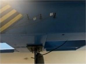 Experimental setup: a) general view of the test frame; b) modular shaker;  c) registration system; d)placement of vibration sensors on the frame rack;  e) placement of vibration sensors on the frame crossbar