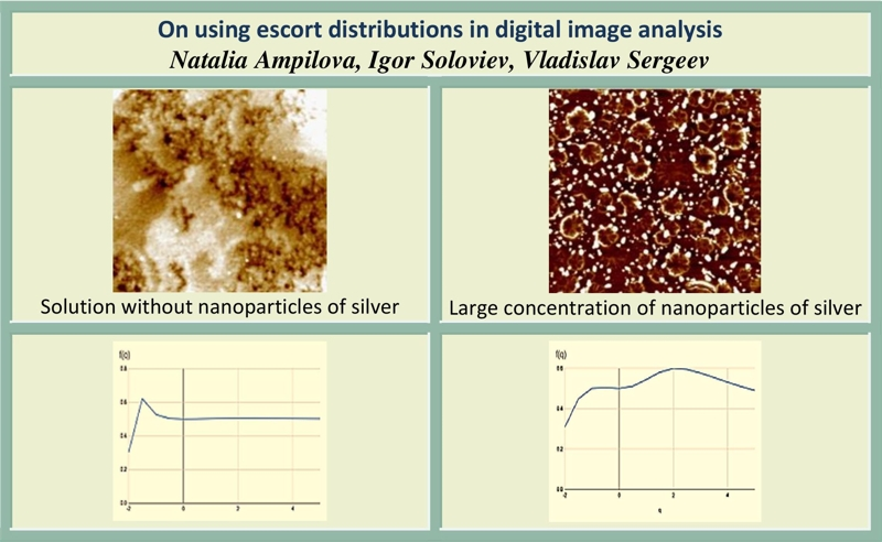 On using escort distributions in digital image analysis