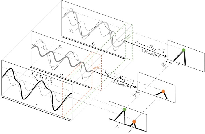 Schematic diagram of the Trimmed Window Discrete Fourier Transform (TWDFT) approach