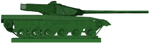 The finite element model of the whole vehicle