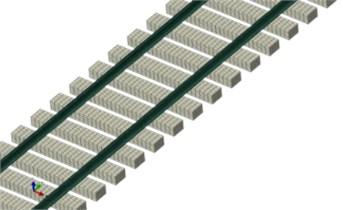 Finite element model of track and sleeper