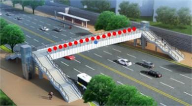 Sketch map of pedestrian overpass