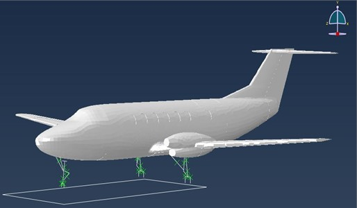 MBD model of aircraft with landing gears