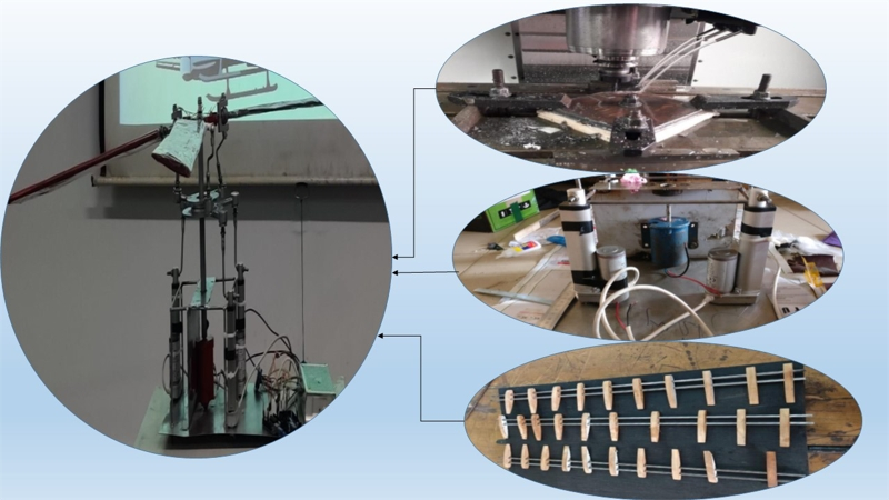 Design, analysis and fabrication of a fully articulated helicopter main rotor system