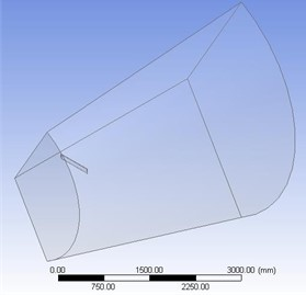 a) Domain in PBC method, b) domain in cylindrical method.
