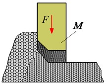 Structure and model of the tamper-asphalt mixture interaction