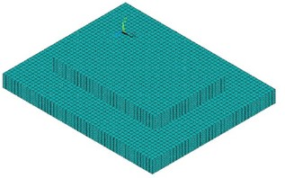 Finite element meshing of buttress foundation