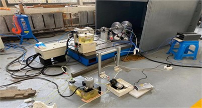 Overall physical picture of bearing test