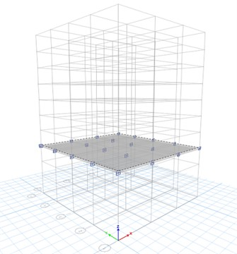 Model design of the interlayer isolation structure