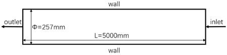 Schematic diagram of fluid domain