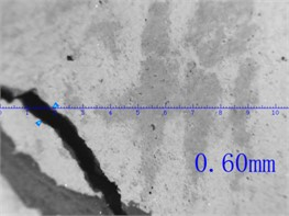 The crack width of MTSP1