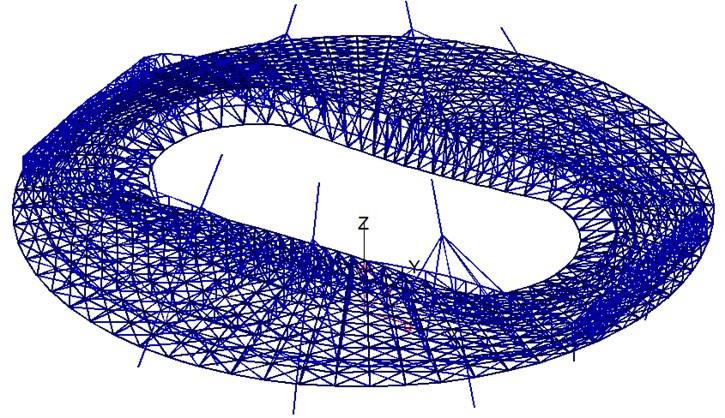 Finite element model of the stadium cover