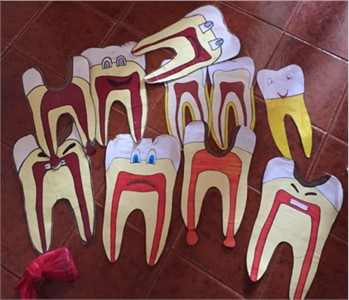Educational materials used to support the learning process in oral health