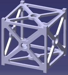 CAD model of CubeSat's frame