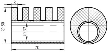 Designs of the tested rubber sleeves