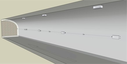 Layout diagram of blasting vibration observation point  of roadway roof and side wall